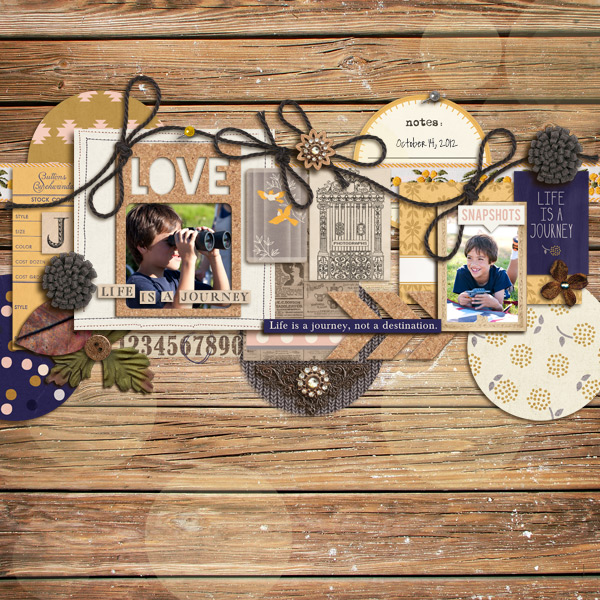 Everyday Snapshots by mikinenn using Country Road Kit, Country Road Journal Cards, Country Road Word Art by Sahlin Studio