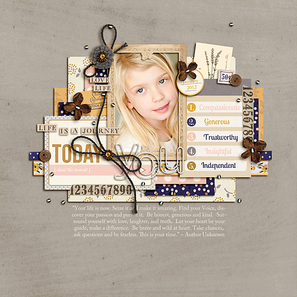 All About You layout by pne123 using Country Road Kit, Country Road Journal Cards, Country Road Word Art by Sahlin Studio