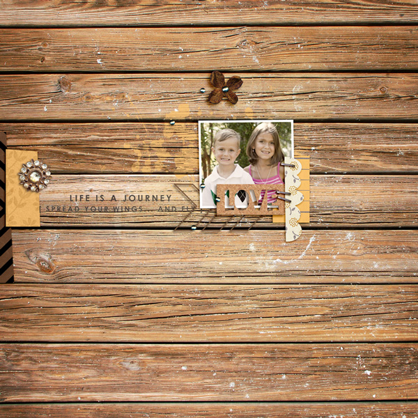 Fall / Autumn digital scrapbook layout by rlma using Country Road by Sahlin Studio
