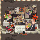 Fall / Autumn / Halloween digital scrapbook layout created by kristasahlin featuring Autumn Moon by Sahlin Studio