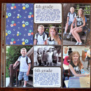 First Day of School layout by kristasahlin using Journal Cards: School by Sahlin Studio