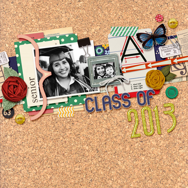 First Day of School layout by raquels using Journal Cards: School by Sahlin Studio