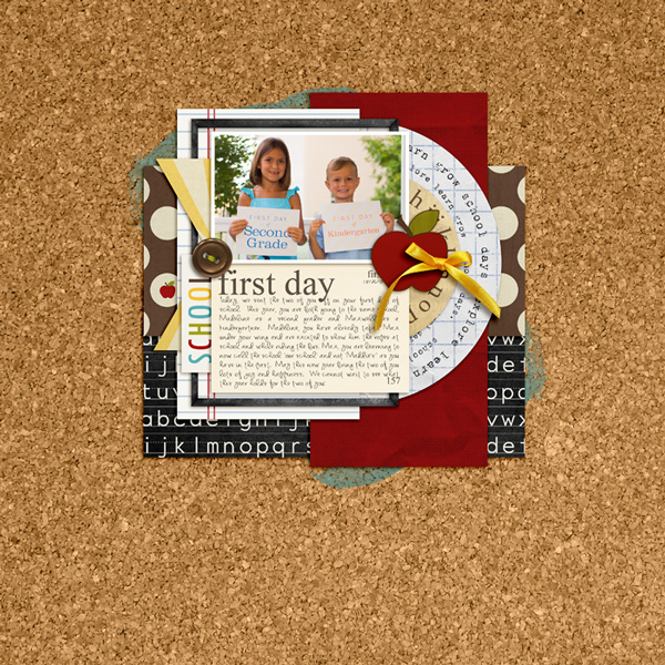 First day of school layout by rlma using Journal Cards: School and Explore.Learn.Grow Bundle by Sahlin Studio