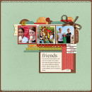 Friends layout by stampin rachel featuring Journal Cards: School by Sahlin Studio