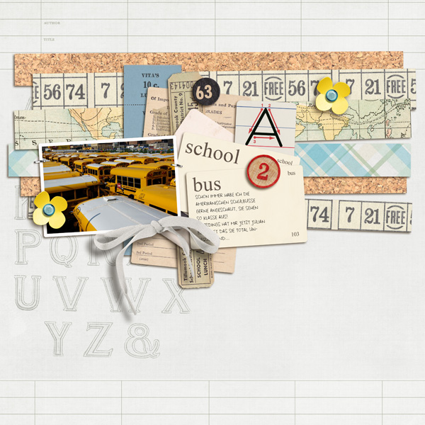 School Bus layout by sucali using Journal Cards: School by Sahlin Studio