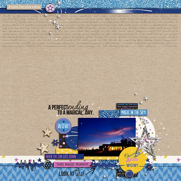 After Dark digital scrapbook layout by margelz using Project Mouse: At Night by Sahlin Studio & Britt-ish Designs