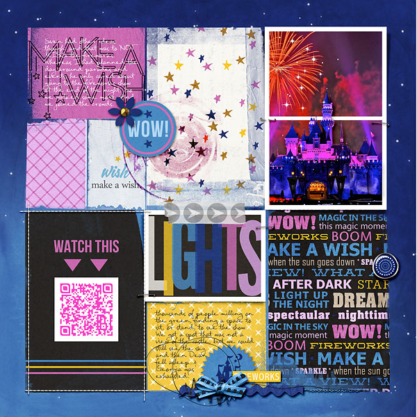disney at night project life - right side - layout by amberr using Project Mouse: At Night by Sahlin Studio & Britt-ish Designs
