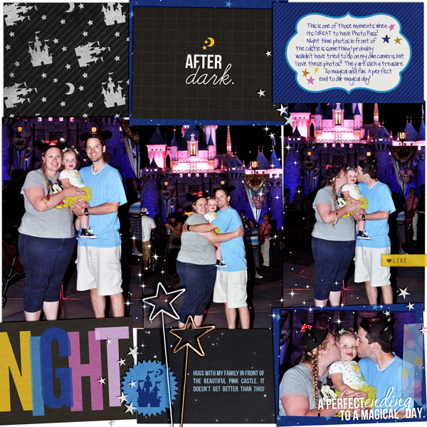 Nighttime poses in front of the castle layout britt using Project Mouse: At Night by Sahlin Studio & Britt-ish Designs