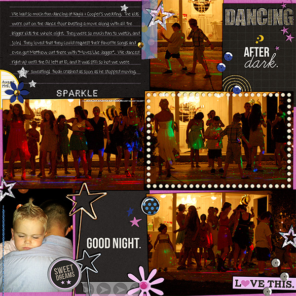 Dancing layout by kelsy using Project Mouse: At Night by Sahlin Studio & Britt-ish Designs