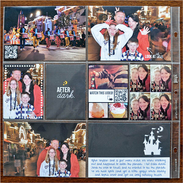 disney at night hybrid project life layout by kristasahlin using Project Mouse: At Night by Sahlin Studio & Britt-ish Designs