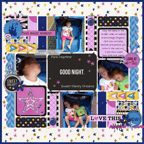 Park Nap Time layout by Melinda using Project Mouse: At Night by Sahlin Studio & Britt-ish Designs