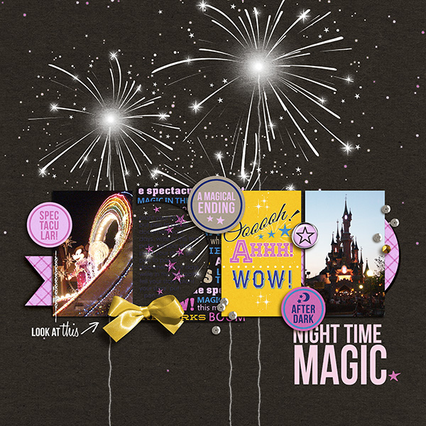 disney at night layout by sucali using Project Mouse: At Night by Sahlin Studio & Britt-ish Designs