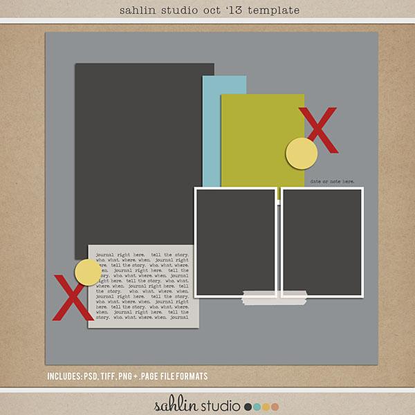 Sahlin Studio Oct 2013 FREE Template