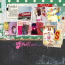 Back To School Shopping layout by Heather Prins using Journal Cards: School by Sahlin Studio
