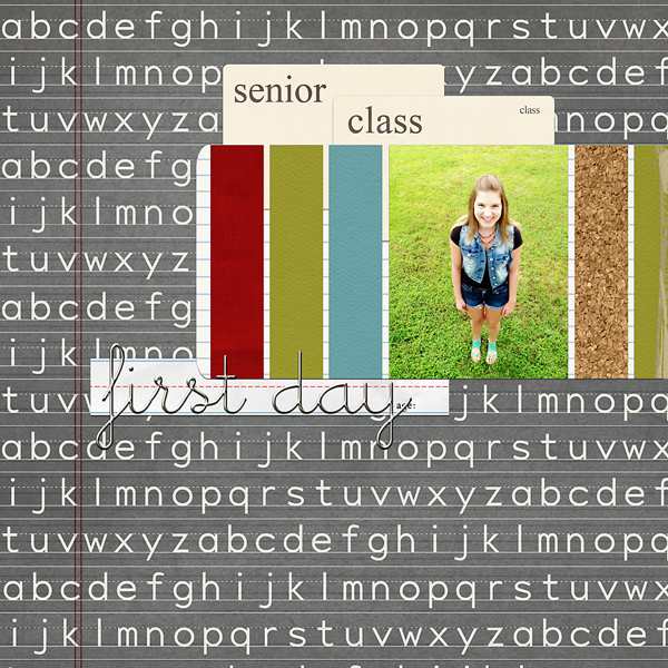 First Day of Senior Class layout by MissKim using Journal Cards: School, Explore.Learn.Grow., Modern Words: Back to School by Sahlin Studio