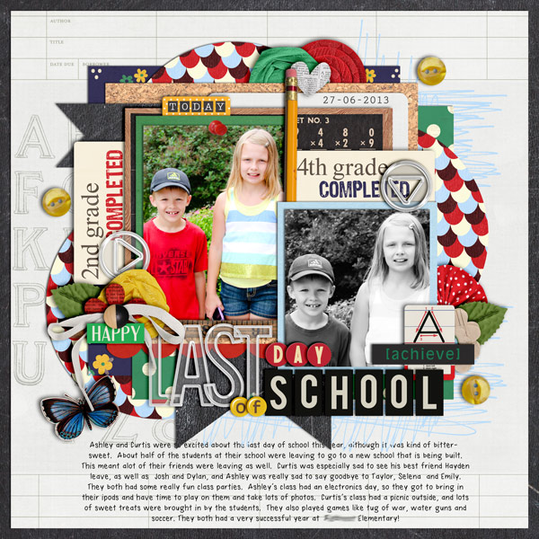 Last Day of School layout by cindys732003 using Journal Cards: School by Sahlin Studio