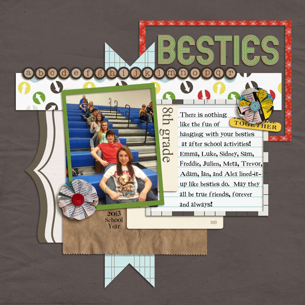 8th Grade Besties layout by lor using Journal Cards: School by Sahlin Studio