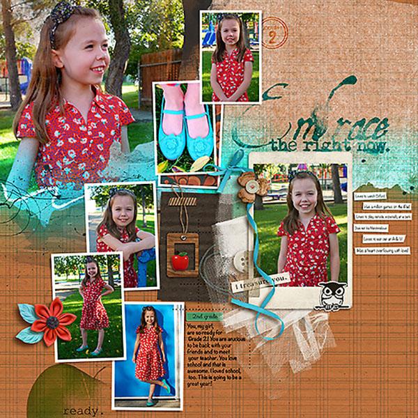 Fall / Autumn  digital scrapbook layout created by HeatherPrins featuring Autumn Moon by Sahlin Studio