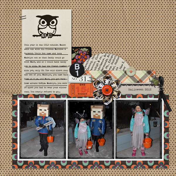 Fall / Autumn  digital scrapbook layout created by ctmm4 featuring Autumn Moon by Sahlin Studio