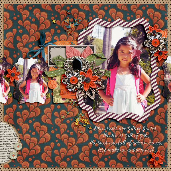 Fall / Autumn digital scrapbook layout created by dianeskie featuring Autumn Moon by Sahlin Studio