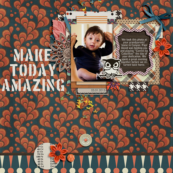 Fall / Autumn  digital scrapbook layout created by raquels featuring Autumn Moon by Sahlin Studio