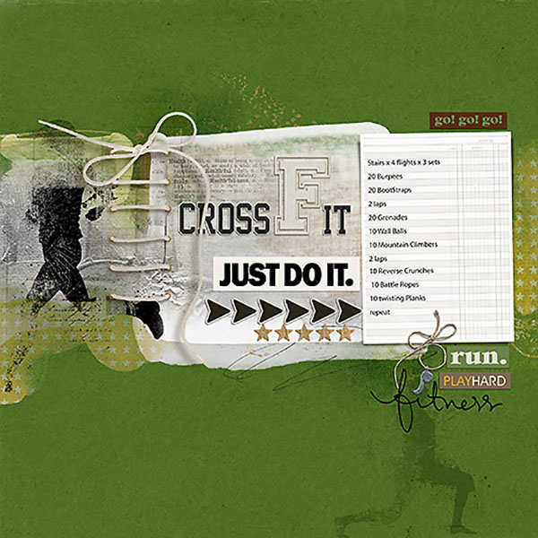 crossfit digital scrapbook layout created by Heather Prins featuring Sports: Football by Sahlin Studio