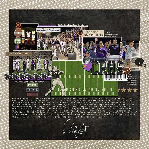 football digital scrapbook layout created by beckie featuring Sports: Football by Sahlin Studio