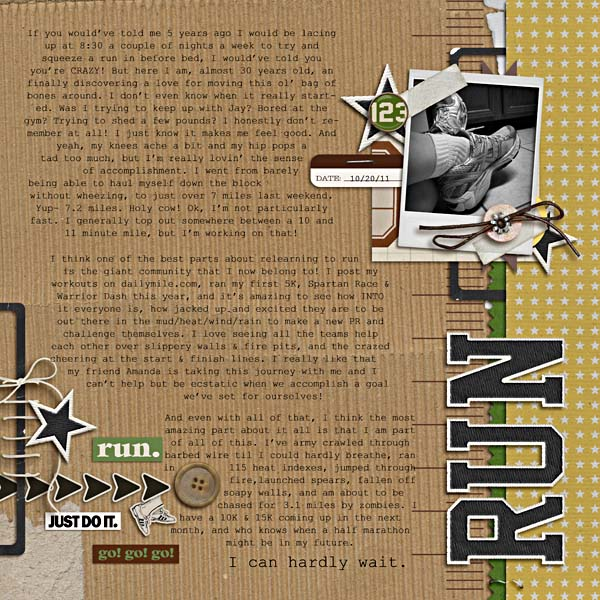 running digital scrapbook layout created by breeoxd featuring Sports: Football by Sahlin Studio