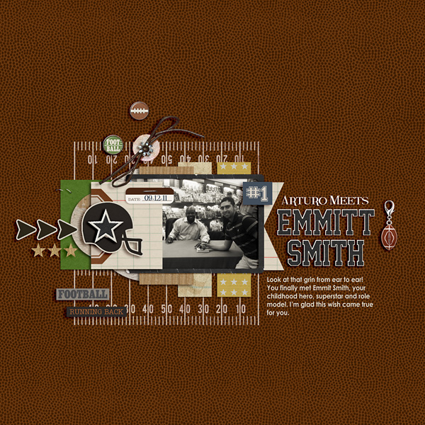 football digital scrapbook layout created by raquels featuring Sports: Football by Sahlin Studio