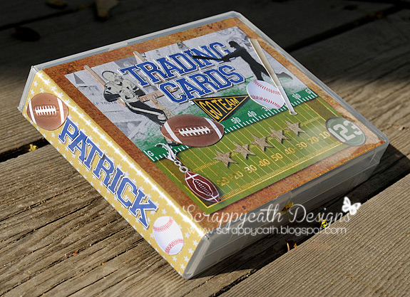 Trading Cards Holder football hybrid project created by scrappycath featuring Sports: Football by Sahlin Studio