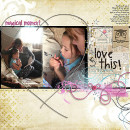love this layout by Heather Prins using magical photo overlays by sahlin studio