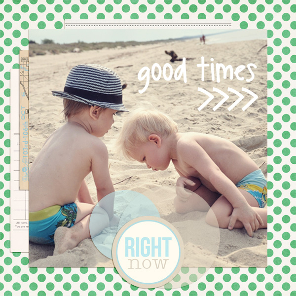 good times layout by dul using magical photo overlays by sahlin studio