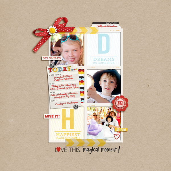 disney layout by pne123 using magical photo overlays by sahlin studio