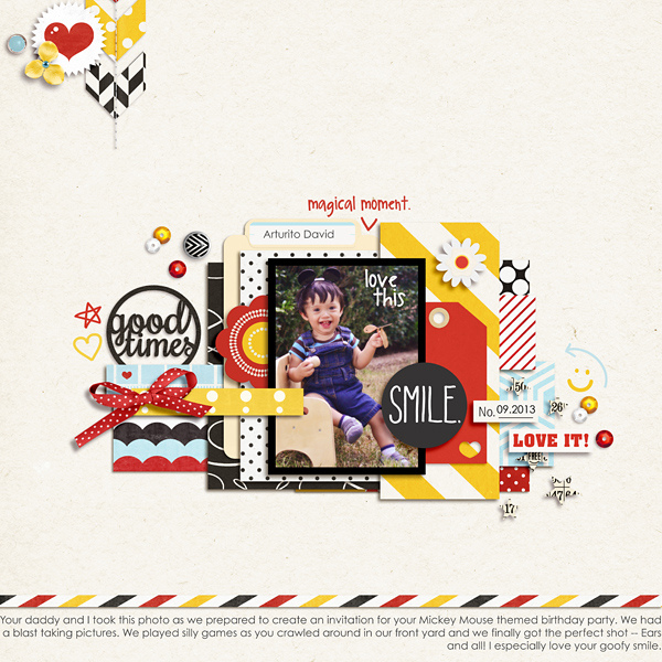 good times layout by raquels using magical photo overlays by sahlin studio
