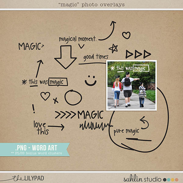Magical Photo Overlays by Sahlin Studio - & Word Art PNG Files