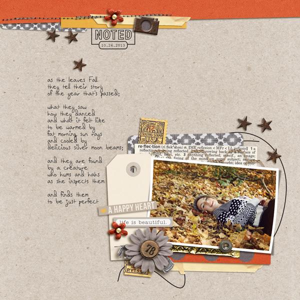 a happy heart layout by Lor using Reflection kit by Sahlin Studio