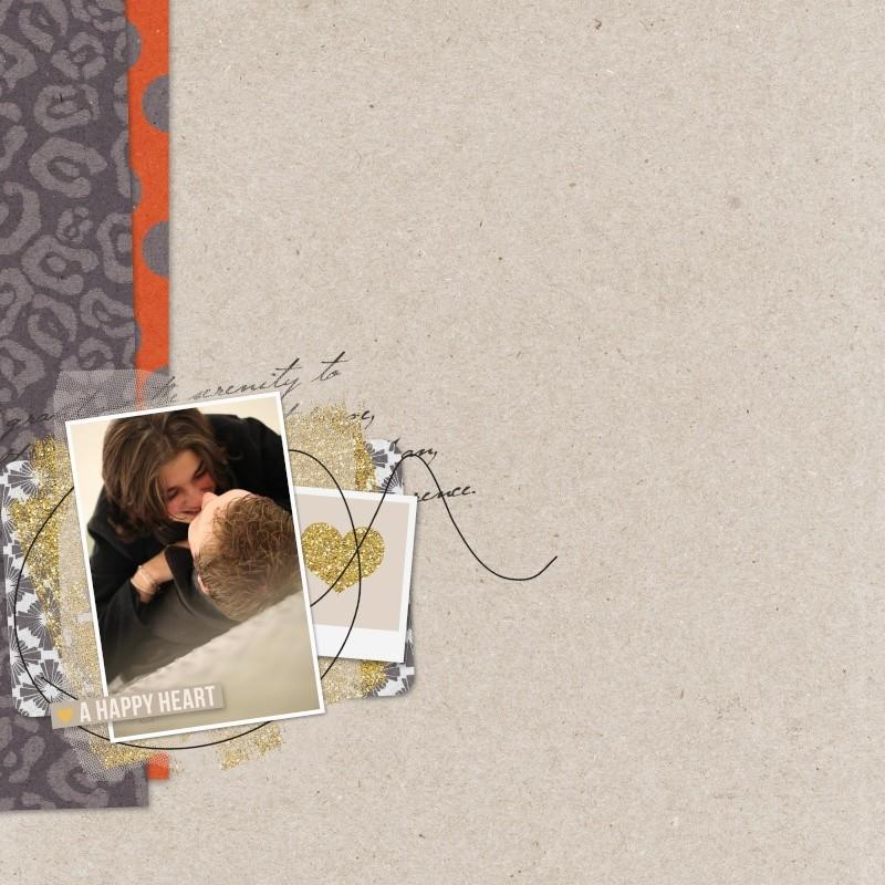 a happy heart layout by MlleTerraMoka using Reflection kit by Sahlin Studio