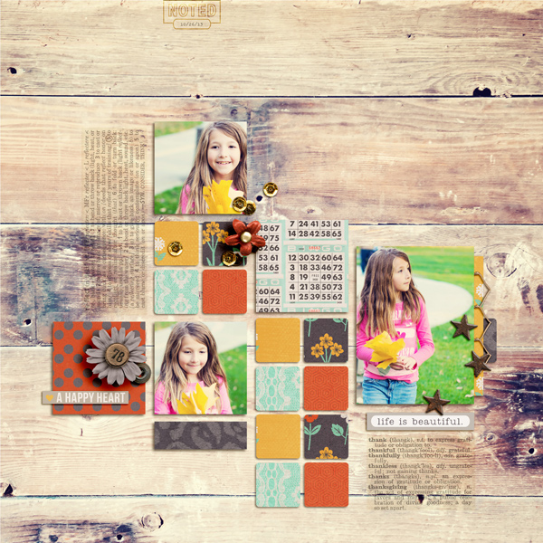 life is beautiful layout by aballen using Reflection kit by Sahlin Studio