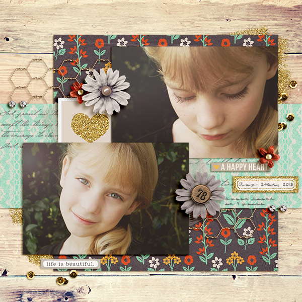 a happy heart layout by becca1976 using Reflection kit by Sahlin Studio