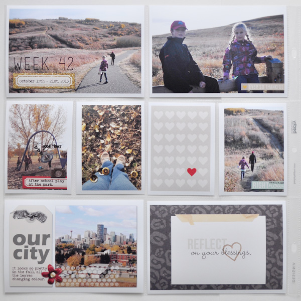 reflect on your blessings hybrid project life layout by ctmm4 using Reflection kit by Sahlin Studio