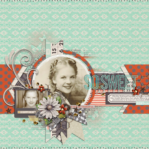 so sweet layout by justagirl using Reflection kit by Sahlin Studio