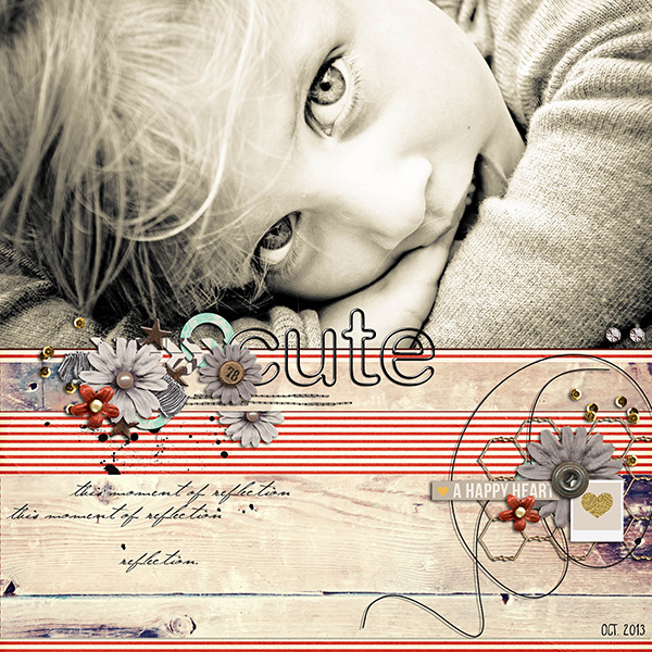 cute layout by louso using Reflection kit by Sahlin Studio
