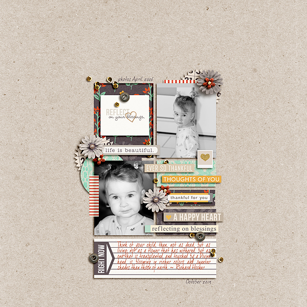 reflect on blessings layout by pne123 using Reflection kit by Sahlin Studio