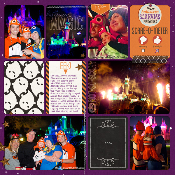 Disney Halloween project life journal  by Britt using Project Mouse: Halloween Edition by Sahlin Studio & Britt-ish Designs