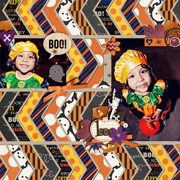 halloween trick or treat page by Damayanti using Project Mouse: Halloween Edition by Sahlin Studio & Britt-ish Designs