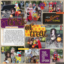halloween trick or treat pocket scrapbooking page by MelindaS using Project Mouse: Halloween Edition by Sahlin Studio & Britt-ish Designs