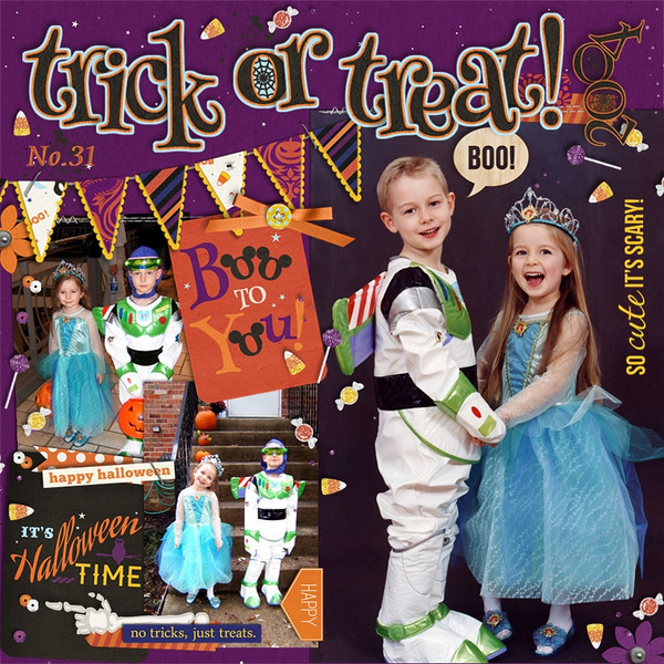 trick or treat page by QuiltyMom using Project Mouse: Halloween Edition by Sahlin Studio & Britt-ish Designs