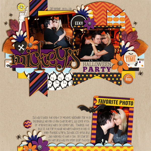 Halloween / Pumpkin digital scrapbook page by TanyaH using Project Mouse: Halloween Edition by Sahlin Studio & Britt-ish Designs