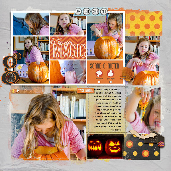 halloween double page layout by amberr (left) using Project Mouse: Halloween Edition by Sahlin Studio & Britt-ish Designs