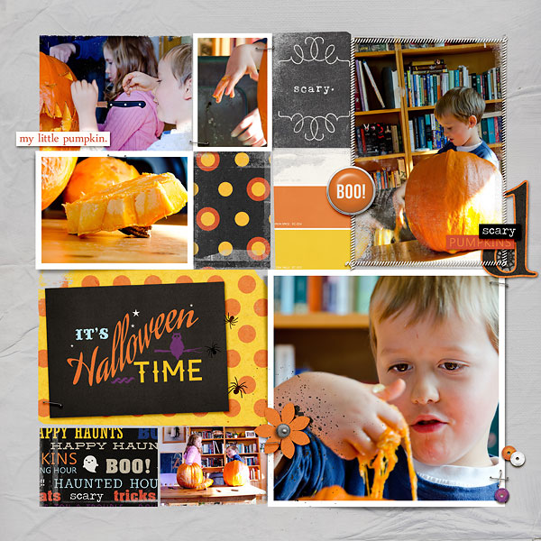 halloween double page layout by amberr (right) using Project Mouse: Halloween Edition by Sahlin Studio & Britt-ish Designs